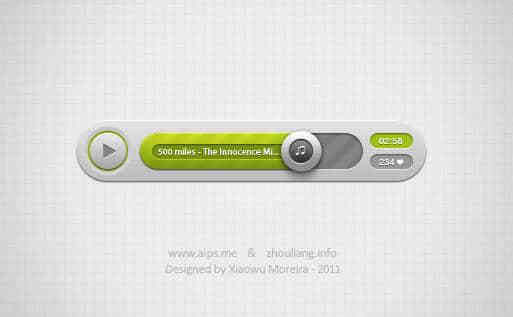 Music Player PSD Download